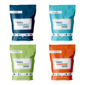 Magnesium Bath Flakes Bundle | Original, Calming, Recovery & Energise