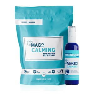 Calming Magnesium Bath Flakes and Spray Bundle