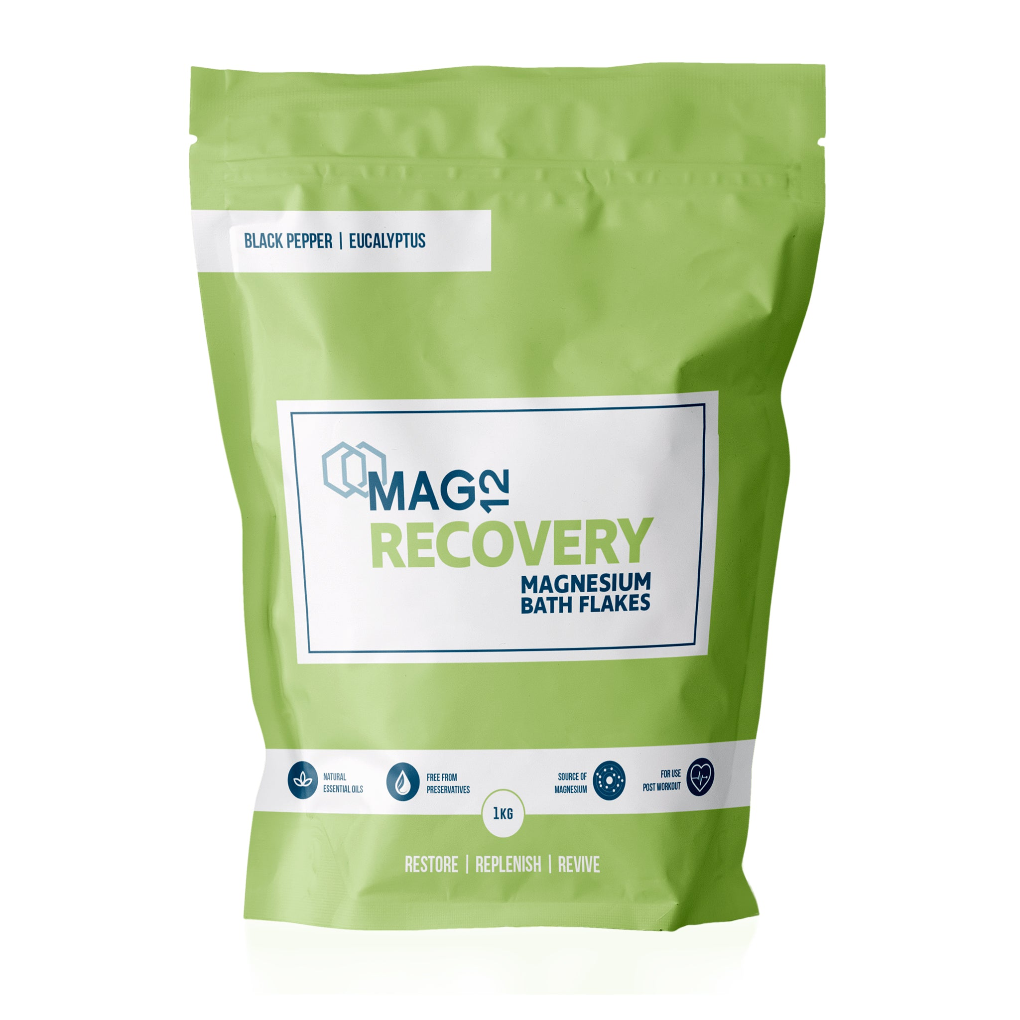 Recovery Magnesium Bath Flakes with Black Pepper & Eucalyptus 1kg