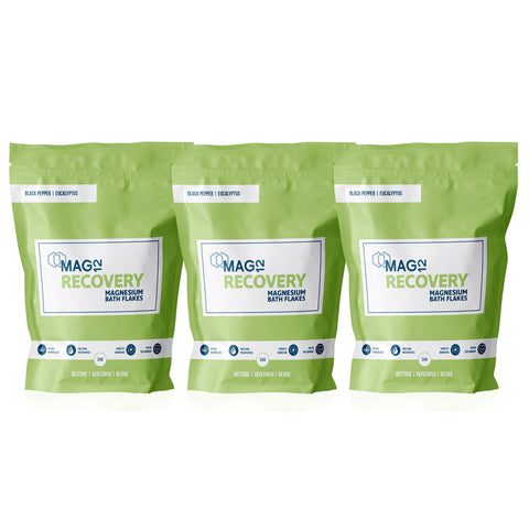 Recovery Magnesium Bath Flakes Bundle (3 x 1kg)