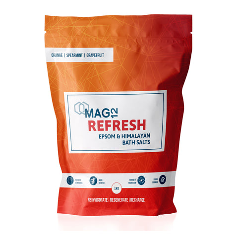 Refresh Epsom Bath Salts with Orange, Spearmint & Grapefruit 1kg