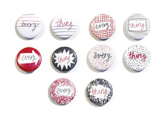 set of little badges