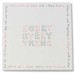 sorry for everything card