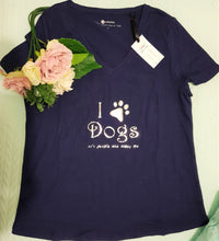 Load image into Gallery viewer, I love dogs T-shirt