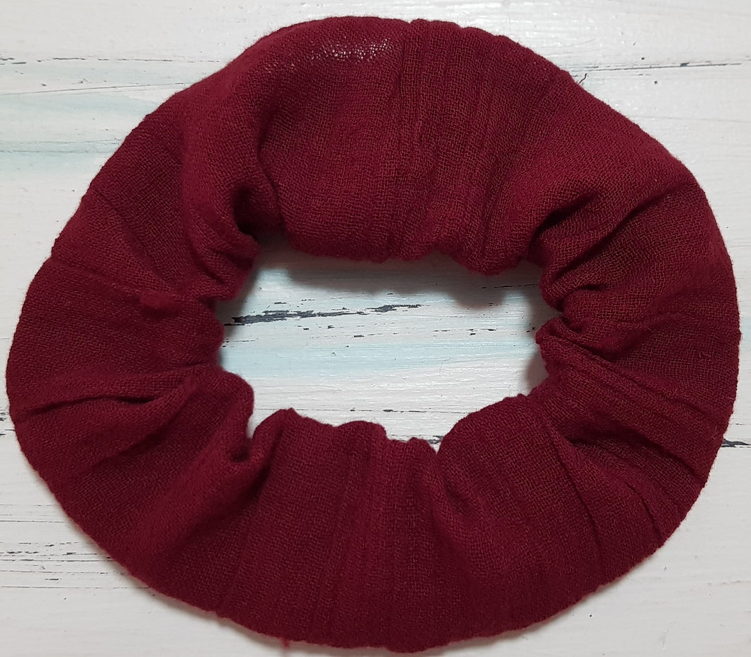 Beautiful Burgundy Scrunchie