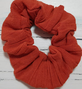 Earthy Rust Scrunchie
