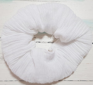 Ice White Scrunchie