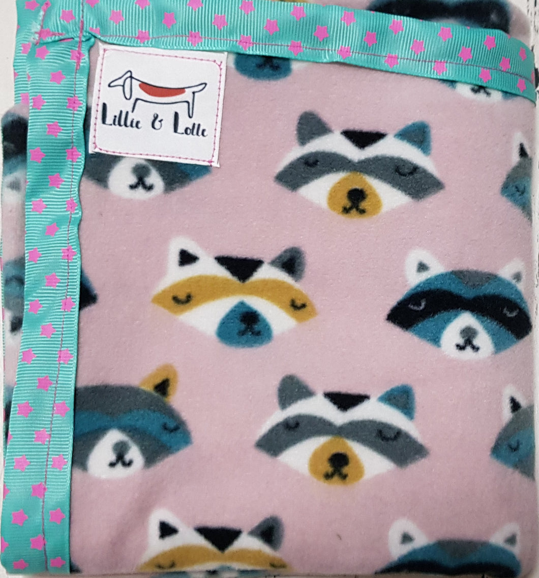 Racoon Micro Fleece Blanket - small