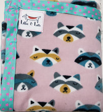 Load image into Gallery viewer, Racoon Micro Fleece Blanket - small