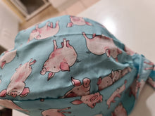 Load image into Gallery viewer, Pale Blue Pigs Scrub Cap