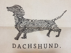 Dachshund Throw Cushion Cover - Dachshund's the Word