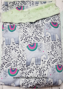 Elegant Elephant Snuggly Sleeping Bag Mint