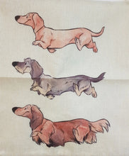 Load image into Gallery viewer, Triple Trouble Dachshund Throw Cushion Cover