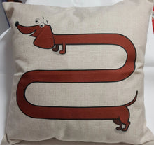 Load image into Gallery viewer, Tan Long Dog Dachshund Throw Cushion Cover