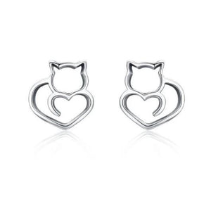 925 Sterling Silver Cat Earrings.Catlive.2