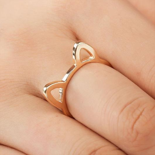 Adorable Cat Ears Ring.Gold.Catlive1