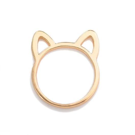 Adorable Cat Ears Ring.Gold.Catlive3