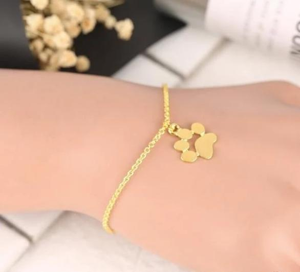 Adorable Cat Paw Bracelet in Gold or Sterling Silver.Catlive.5