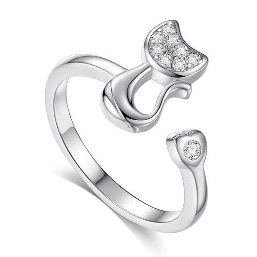Cat Ring Plated in 925 Sterling Silver.Catlive.1