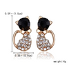 Cat jewelry 18 k Golden Cat Earring Cat Live.4