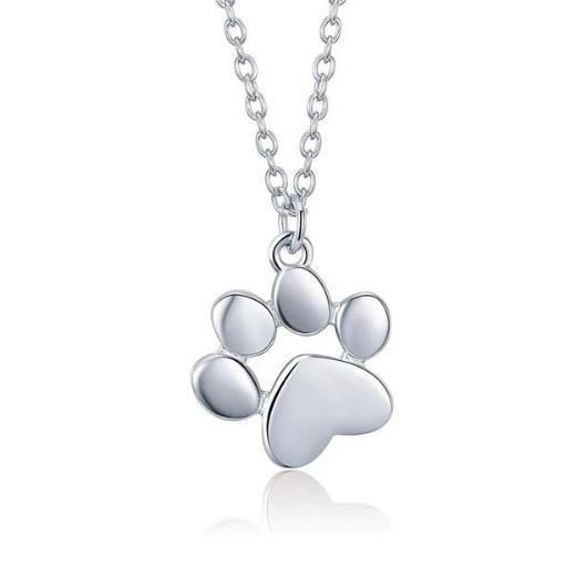 Cat paw necklace in 925 sterling silver and 18 k gold.Catlive.1