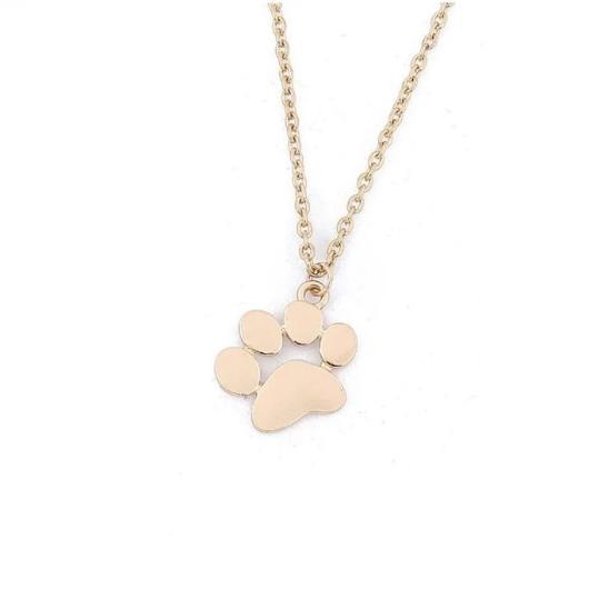 Cat paw necklace in 925 sterling silver and 18 k gold.Catlive.2