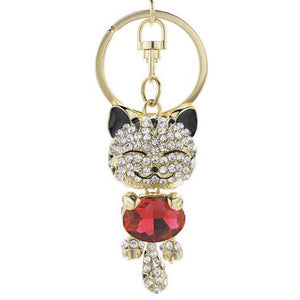 Golden Cat Keychain with a Berg Crystal.Catlive.1