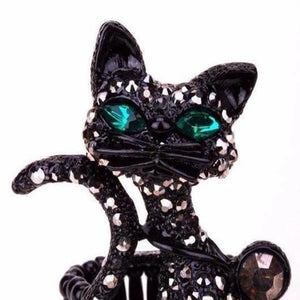 Gorgeous Cat Ring in Black Titanium or Gold.Catlive.3