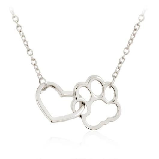 Paw Heart Cat Necklace.Catlive.2