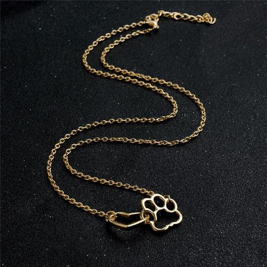 Paw Heart Cat Necklace.Catlive.5