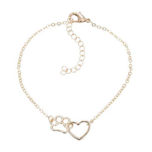 Paw and Heart cat Bracelet.Catlive.1