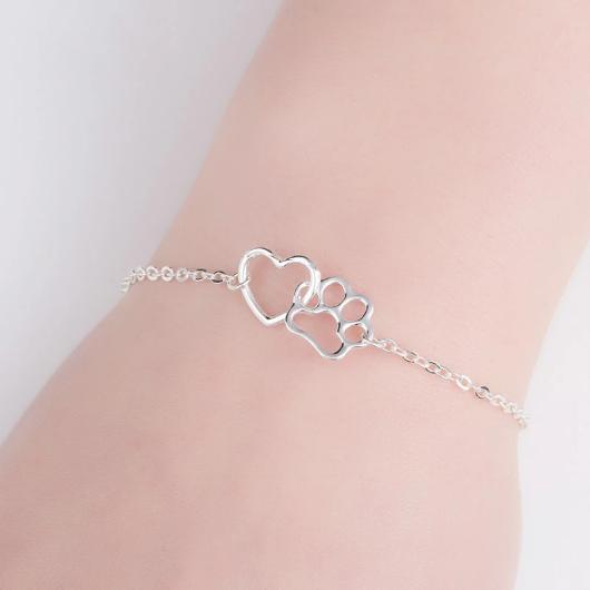 Paw and Heart cat Bracelet.Catlive.2