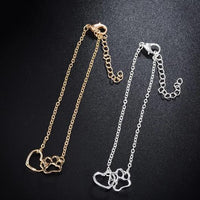 Paw and Heart cat Bracelet.Catlive.3
