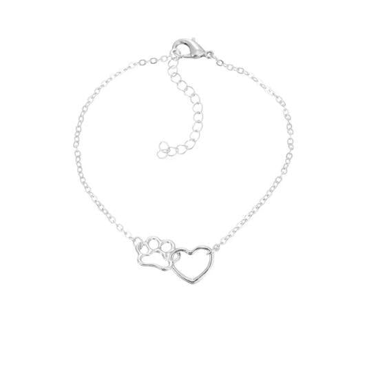 Paw and Heart cat Bracelet.Catlive.5