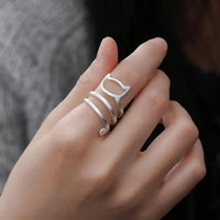 Sterling Silver Helical Cat Ring.Catlive.3