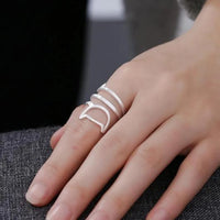 Sterling Silver Helical Cat Ring.Catlive.4