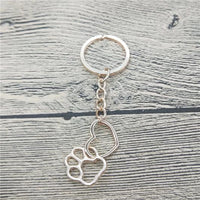 Stylish Heart and Paw keychain.Catlive.1