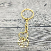 Stylish Heart and Paw keychain.Catlive.3