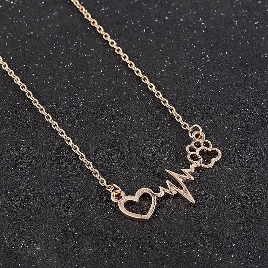 The Heart Beat Cat Paw Nacklace.Catlive.2