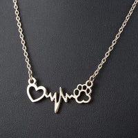 The Heart Beat Cat Paw Nacklace.Catlive.3