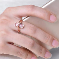 The Pinky Opal Cat Ring in 14k Rose Gold.Catlive.3