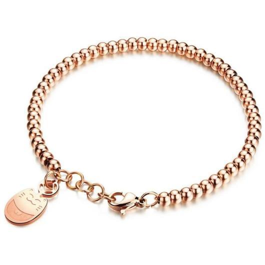 The Smiley Cat Bracelet Plated in Rose Gold.Catlive.1