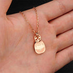The Smiley Cat Necklace in 14k Rose Gold.Catlive.4
