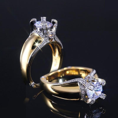 Wedding S925 Silver Rings Flower Shape Cubic Zircon Ring
