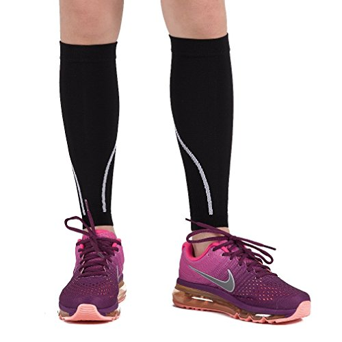 9adc11975759d Calf Compression Sleeve For Men &Amp; Women - Instant Shin Splint Support,  Leg Pain Relief, Circulation And Recovery Socks - Calf Sleeves For Runners,  ...