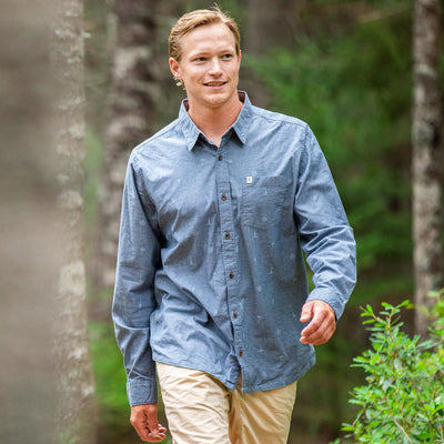 Outpost Shirt Long Sleeve - Atlantic