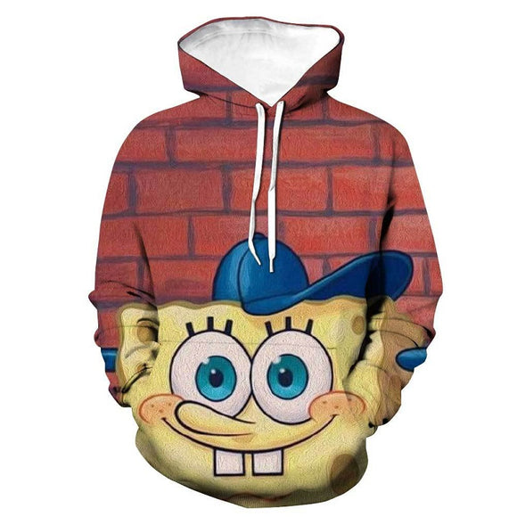 Sponge Bob 3D Print Colorful Pull Over Hoodies