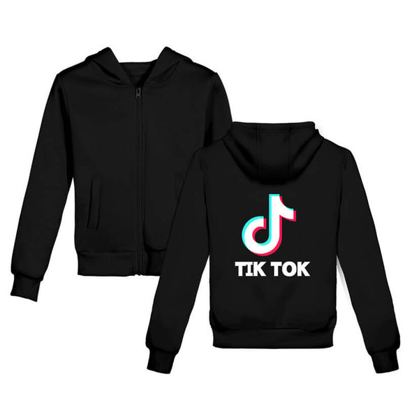 Tiktok Casual Hoodie with Zipper for Kids and Teens