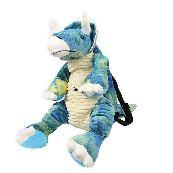 Fuzzy Dinosaur Shape Backpack for Kids and Adults