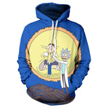 Rick and Morty Unisex Blue Casual Hoodie